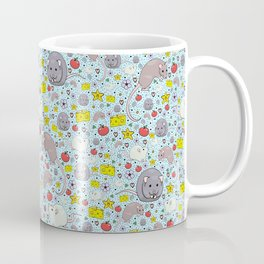 Pretty Rat and Mouse Pattern Coffee Mug