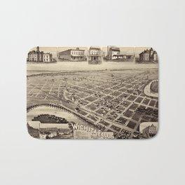 Map Of Wichita Falls 1890 Bath Mat