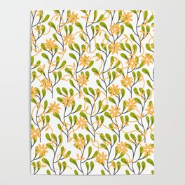 Flowers and Leaves Poster