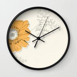 Orange Eden Wall Clock