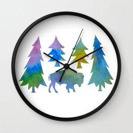 bison / buffalo Wall Clock