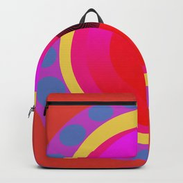 Abstract in Red Backpack