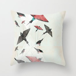Tied Down Throw Pillow