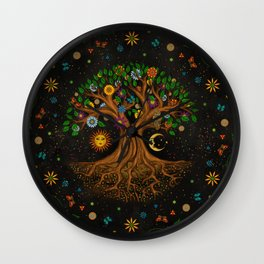 Whimsical Tree of Life - Yggdrasil  Wall Clock