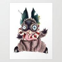 bucky Art Prints featuring Bucky by Maria Gabriela Arevalo Reggeti