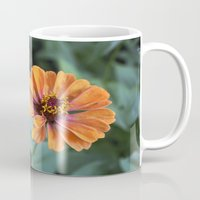rileigh smirl Mugs featuring Orange and Pink by Rileigh Smirl