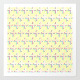 plus cmyk pattern Art Print