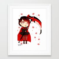 rwby Framed Art Prints featuring RWBY Chibi by Whisperwing