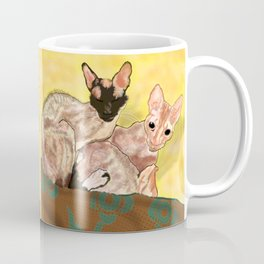 Tiger and George - the Cornish Rex Cats Coffee Mug