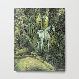 Unicorn & Pixies Metal Print