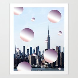 pastell skyline Art Print