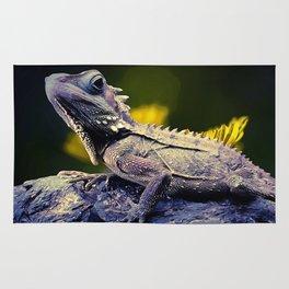 painting dragon lizart Rug