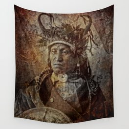 Assiniboine Chief Wall Tapestry