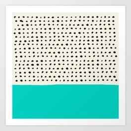 Aqua x Dots Art Print