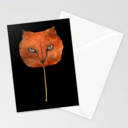 Autumn Cat-4 Stationery Cards