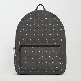 Pantone Pewter and white Polka Dots Circle Pattern Backpack