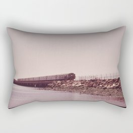NEW YORK SUBWAY IS ABOVE GROUND WHEN IT CROSSES JAMAICA BAY AREA Rectangular Pillow