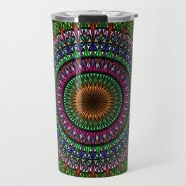 Hypnotic Church Window Mandala Travel Mug