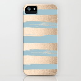 Painted Stripes Gold Tropical Ocean Sea Blue iPhone Case