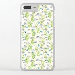 Beach Grass & Pebbles Clear iPhone Case