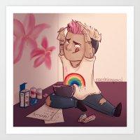 Cupcake pink Art Print