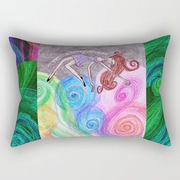Free Fall View Rectangular Pillow
