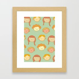 happy little faces. Framed Art Print