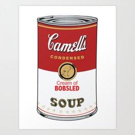 Camell's Soup CREAM OF BOBSLED Pop Art Art Print