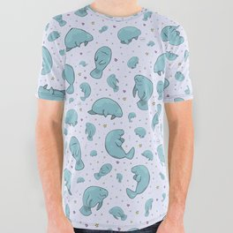 Manatees All Over Graphic Tee