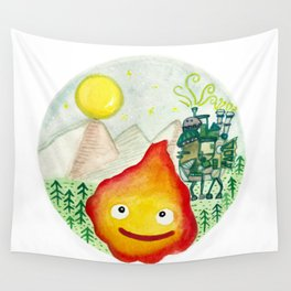 Howl's Moving Castle - Calcifer Wall Tapestry
