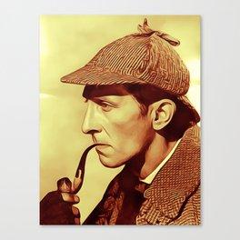 Peter Cushing as Sherlock Holmes Canvas Print