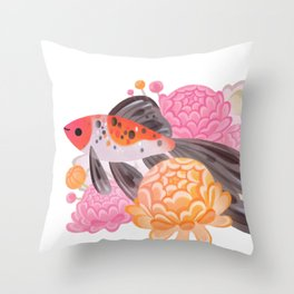 Shubunkin Throw Pillow