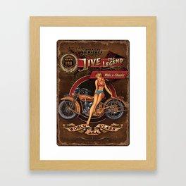 Live the Legend Framed Art Print