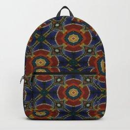 Orange Blue Circular Spinners Backpack