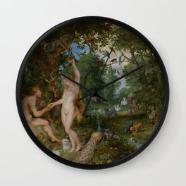 The Garden of Eden with the Fall of Man, Peter Paul Rubens and Jan Brueghel the Elder Wall Clock
