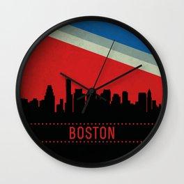 Boston Skyline Wall Clock