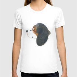 King Charles Spaniel - cute dog illustration Portrait T-shirt