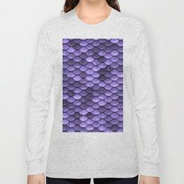 Mermaid Scales Periwinkle Ultra Violet Long Sleeve T-shirt