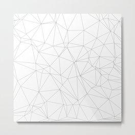 Geometric Triangle Pattern Metal Print