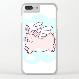 Flying Bunny Clear iPhone Case