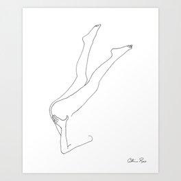 Nude line drawing 'legs' Art Print