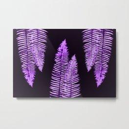Ultra Violet Forest Ferns Metal Print