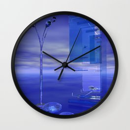Blue Whenever Wall Clock