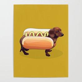 Dachshund Wiener Hot Dog Poster