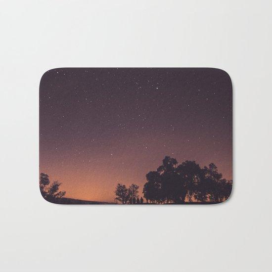 Sunset stars Bath Mat