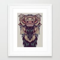 indonesia Framed Art Prints featuring Barong Indonesia by Ahmad Mujib