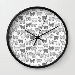 Pattern cats Wall Clock