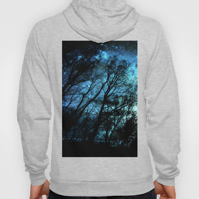Black Trees Deep Teal SPACE Hoody