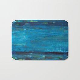 blue vertical Bath Mat