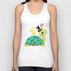 happy turtle Unisex Tank Top